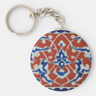 Red Iznik Turkish Tile Ottoman Empire Keychain