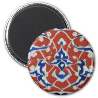 Red Iznik Turkish Tile Ottoman Empire Magnet