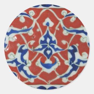 Red Iznik Turkish Tile Ottoman Empire Stickers