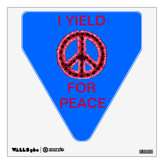 Red Jagged Peace I Yield Wall Decal