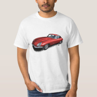 Red Jaguar XKE Vintage Sports Car T-Shirt