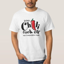 Red Jalapeno Chili Cook Off Competition T-Shirt