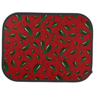 Red jalapeno peppers pattern car mat