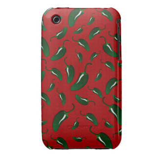 Red jalapeno peppers pattern Case-Mate iPhone 3 case