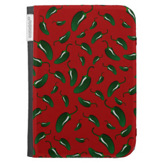 Red jalapeno peppers pattern kindle 3G cases