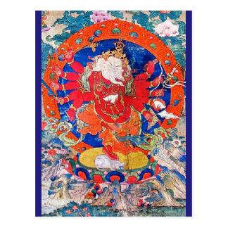 Red Jambhala Buddhist Deity Postcard