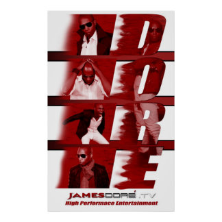 RED James Dore' Poster White backdrop