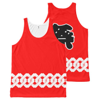 Red Japanese Festival Happi Coat All-Over Print Tank Top