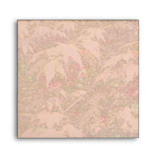 Red Japanese Maple Color Pencil Square Envelope