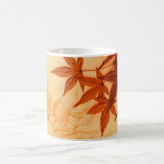 Red Japanese Maple Leaves Coffee Mug