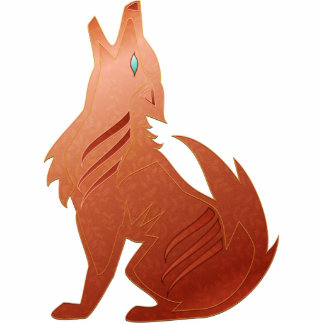 Red Jasper Coyote Sculpture