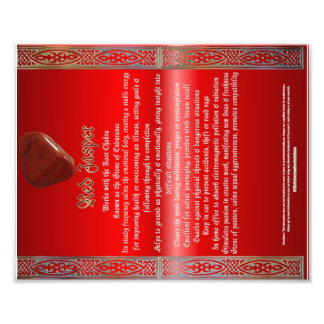 Red Jasper Properties Chart Photo Print