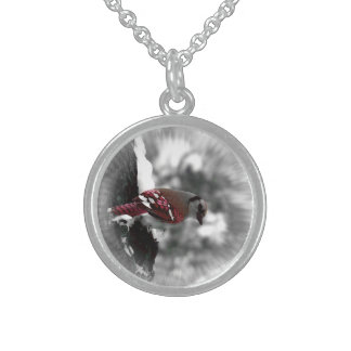 Red Jay Bird Necklace