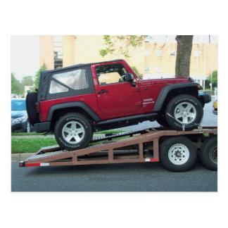 Red Jeep Postcard