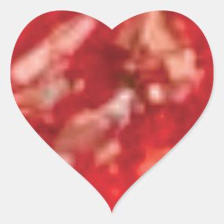 red jelly art heart sticker