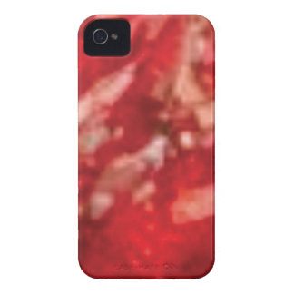 red jelly art iPhone 4 cover