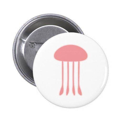 Red Jellyfish 2 Inch Round Button
