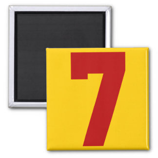 Red Jersey Number 7 Magnet