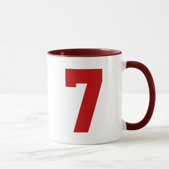 Red Jersey Number 7 Mug