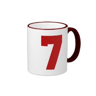 Red Jersey Number 7 Ringer Mug