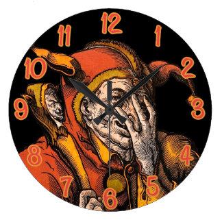 Red Jester Wall Clocks