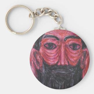 Red Jesus in Gethsemane (  expressionism Jesus ) Keychain