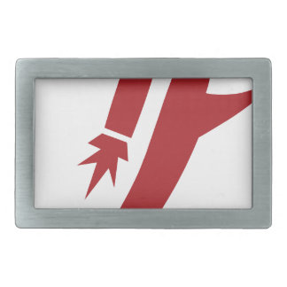 Red Jet Pack Silhouette Icon Belt Buckles