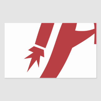 Red Jet Pack Silhouette Icon Rectangular Sticker