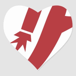 Red Jet Pack Silhouette Icon Heart Sticker