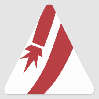Red Jet Pack Silhouette Icon Triangle Sticker
