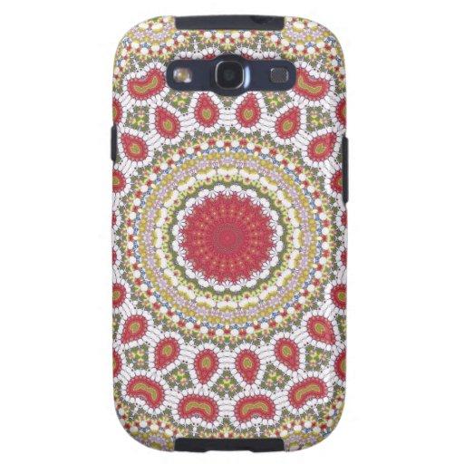 Red Jewels Mosaic Geometric Design Galaxy S3 Case