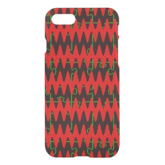 Red jigsaw Sine Waves iPhone 8/7 Case