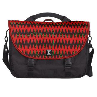 Red jigsaw Sine Waves Computer Bag