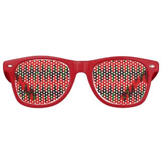Red jigsaw Sine Waves Retro Sunglasses