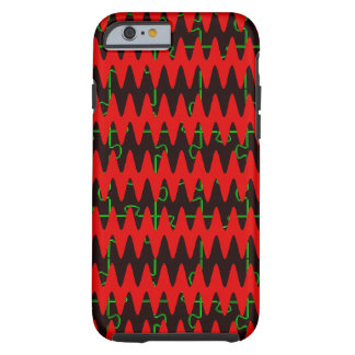 Red jigsaw Sine Waves Tough iPhone 6 Case