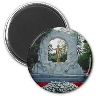 Red Johann Strauss Memorial, Stadtpark, Vienna, Au 2 Inch Round Magnet
