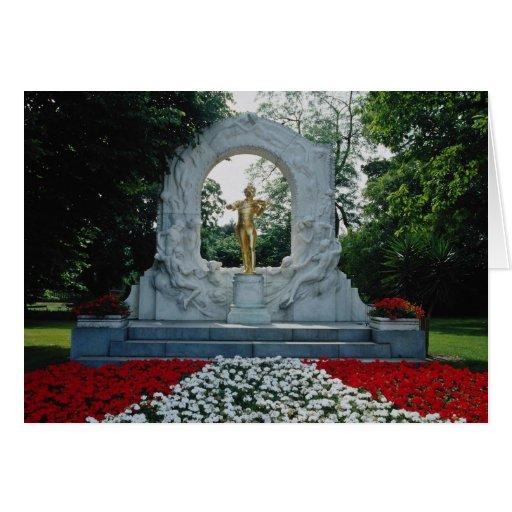 Red Johann Strauss Memorial, Stadtpark, Vienna, Au Greeting Card