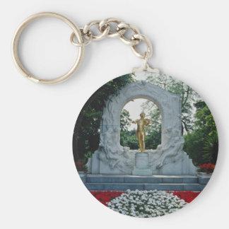 Red Johann Strauss Memorial, Stadtpark, Vienna, Au Key Chains
