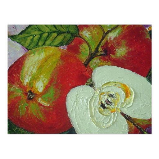 Red Jonagold Apples Postcard