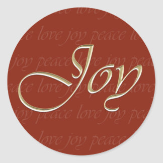 Red Joy Holiday Classic Round Sticker