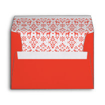 Red Joy Swedish Dala Horse Holiday Envelope