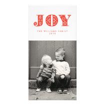 Red Joy Swedish Dala Horse Holiday Photocard Card