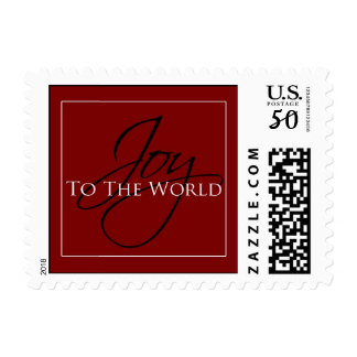 Red Joy to the World Stamp