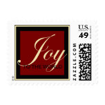 Red Joy to the World Stamp Postcard