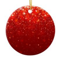 red joyous shining pattern ceramic ornament