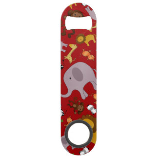 Red jungle safari animals bar key