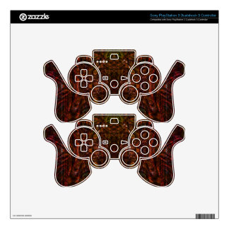 Red kaileidoscopic groove skin for PS3 controller