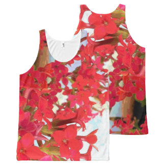 Red Kalanchoe Flowers All-Over-Print Tank Top