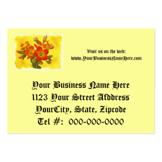 Red Kalanchoe - Succulent Sunshine Large Business Cards (Pack Of 100)