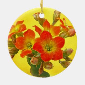 Red Kalanchoe - Succulent Sunshine Ceramic Ornament